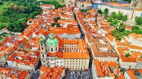 Area Lesser Town of Prague(Mala Strana). Near the church Saint Vitus, Ventseslaus and Adalbert. Czech Republic Stock Photos
