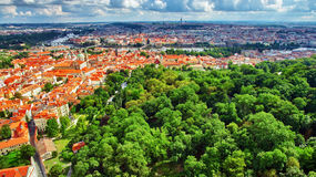 Area Lesser Town of Prague(Mala Strana). Near the church Saint Vitus, Ventseslaus and Adalbert. Czech Republic Stock Image