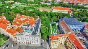 Area Lesser Town of Prague(Mala Strana). Near the church Saint Vitus, Ventseslaus and Adalbert. Czech Republic Royalty Free Stock Photo