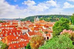 Area Lesser Town of Prague, near the church Saint Vitus Stock Images