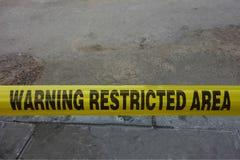 Area limitata d'avvertimento Immagine Stock Libera da Diritti