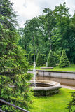 Area lower park at Peterhof, Russia Stock Photo