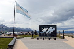 The area of the Malvinas Islands in Ushuaia Royalty Free Stock Photography