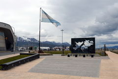 The area of the Malvinas Islands in Ushuaia. Royalty Free Stock Images
