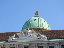 The area of the Maria-Theresien-Platz, Vienna, Austria, on a clear day stock photography