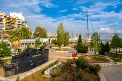 The city of Piraeus royalty free stock images