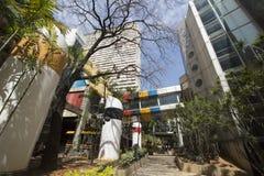 Area moderna del pedone e di architettura a Caracas immagine stock
