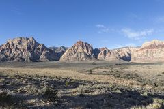 Area nazionale Nevada di conservazione del canyon rosso della roccia Fotografia Stock