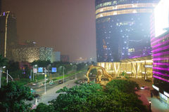Area near Guangzhou International Finance Centre Stock Photography