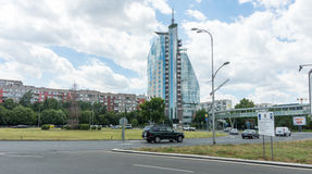 Area near the Mirage Hotel in Burgas, Bulgaria stock images