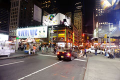 Area near Times Square at night Royalty Free Stock Image