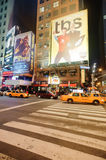 Area near Times Square at night Stock Image