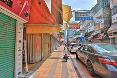 Sheung Shui smuggler shops at hong kong. The area of north district  Sheung Shui Stock Photo