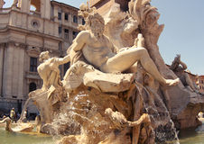 Area Of Navona, Rome Stock Images