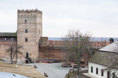 Area of old Lubart castle in Lutsk Ukraine Royalty Free Stock Photos