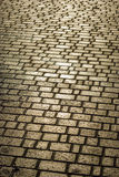 The area paved with stone. Royalty Free Stock Photo