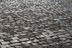 The area paved with stone. Royalty Free Stock Images