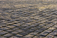 The area paved with stone. Stock Photos