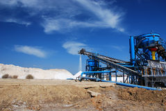 Area production of salt in Spain. Royalty Free Stock Photography