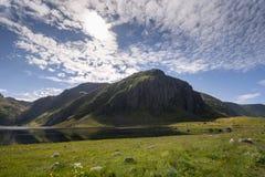 Area protetta del parco in Eggun in Norvegia Fotografia Stock