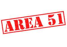 AREA 51. Red Rubber Stamp over a white background Stock Photos