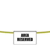 Area reserved Stock Photos