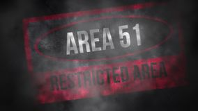 Area 51 Restricted Area stock video footage