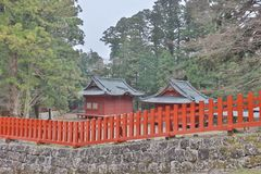 The area of Rinnoji Temple at 2016 Stock Images