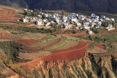 Area rossa della terra nel Yunnan Immagini Stock Libere da Diritti