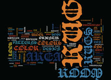 Area Rug Buyers Guide Word Cloud Concept vector illustration