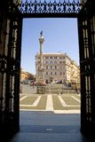 The area of Saint Maria Maggiore in Rome column Stock Photography