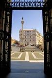 The area of Saint Maria Maggiore in Rome column Stock Photography