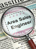 Area Sales Engineer Hiring Now. 3D. Stock Images