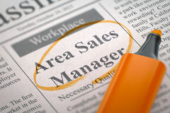 Area Sales Manager Wanted. royalty free stock photography