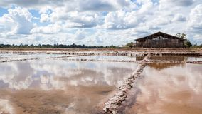 Area for salt industry,Thailand.  royalty free stock images