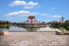 Area scenica cinque Yin Tan City di Buddha del gigante di Wuxi Lingshan Fotografia Stock