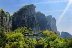 Area scenica del canyon della Cina Fotografia Stock