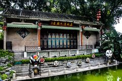 Area scenica della baia del litchi in Canton, Cina immagine stock libera da diritti