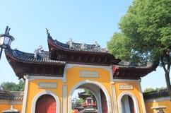 Area scenica Suzhou Cina del tempio di Hanshan Fotografie Stock