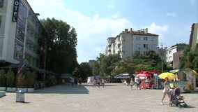 The area at the Sea Garden in Varna. Bulgaria. Varna - the sea capital of Bulgaria, a center of shipping and tourism. Today it is the third largest and most stock video