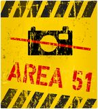 Area 51 sign Stock Photography