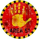 Area 51 sign Royalty Free Stock Images