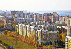 Area of social housing in the city of Samara Stock Photo