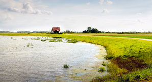 Area sommersa in un ploder olandese di recente creazione Fotografie Stock