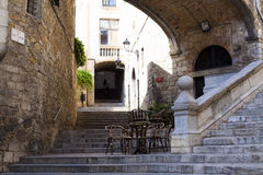 Area of St. Dominic in Girona Spain Stock Images