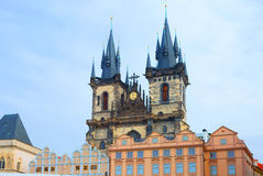 The area of Stare mesto in Prague. Cathedral Of The Virgin Mary. Stock Images