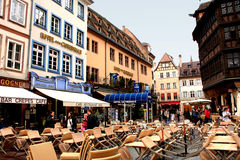 Area in Strasbourg. Stock Photo