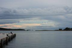 Area of tourist harbor in Porec in Croatia Royalty Free Stock Photos