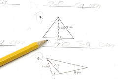 Area of triangles Stock Images