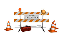 Area is under construction Royalty Free Stock Photography